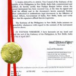 Agreement Attestation for Philippines in Samode, Agreement Legalization for Philippines , Birth Certificate Attestation for Philippines in Samode, Birth Certificate legalization for Philippines in Samode, Board of Resolution Attestation for Philippines in Samode, certificate Attestation agent for Philippines in Samode, Certificate of Origin Attestation for Philippines in Samode, Certificate of Origin Legalization for Philippines in Samode, Commercial Document Attestation for Philippines in Samode, Commercial Document Legalization for Philippines in Samode, Degree certificate Attestation for Philippines in Samode, Degree Certificate legalization for Philippines in Samode, Birth certificate Attestation for Philippines , Diploma Certificate Attestation for Philippines in Samode, Engineering Certificate Attestation for Philippines , Experience Certificate Attestation for Philippines in Samode, Export documents Attestation for Philippines in Samode, Export documents Legalization for Philippines in Samode, Free Sale Certificate Attestation for Philippines in Samode, GMP Certificate Attestation for Philippines in Samode, HSC Certificate Attestation for Philippines in Samode, Invoice Attestation for Philippines in Samode, Invoice Legalization for Philippines in Samode, marriage certificate Attestation for Philippines , Marriage Certificate Attestation for Philippines in Samode, Samode issued Marriage Certificate legalization for Philippines , Medical Certificate Attestation for Philippines , NOC Affidavit Attestation for Philippines in Samode, Packing List Attestation for Philippines in Samode, Packing List Legalization for Philippines in Samode, PCC Attestation for Philippines in Samode, POA Attestation for Philippines in Samode, Police Clearance Certificate Attestation for Philippines in Samode, Power of Attorney Attestation for Philippines in Samode, Registration Certificate Attestation for Philippines in Samode, SSC certificate Attestation for Philippines in Samode, Tra